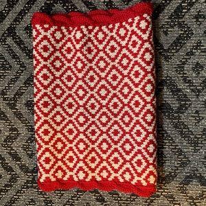 Ikat merino wool infinity scarf